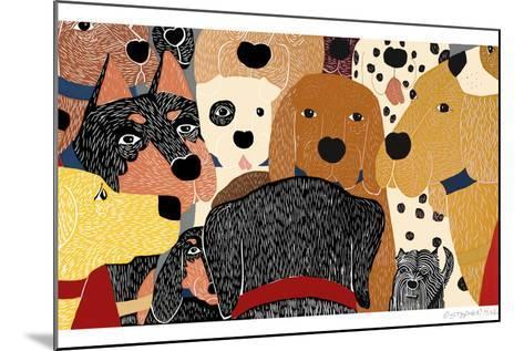 Dog Meeting-Stephen Huneck-Mounted Giclee Print