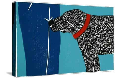 Greeting Visitors Bad Dog-Stephen Huneck-Stretched Canvas Print