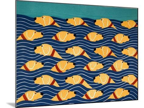 Beach Cover Sheet Yellow Yellow-Stephen Huneck-Mounted Giclee Print