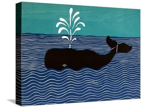 The Whale-Stephen Huneck-Stretched Canvas Print