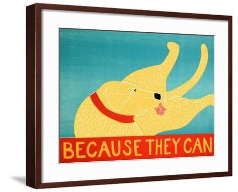Because They Can Yellow-Stephen Huneck-Framed Art Print