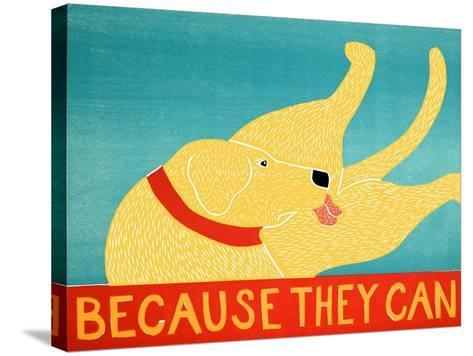 Because They Can Yellow-Stephen Huneck-Stretched Canvas Print