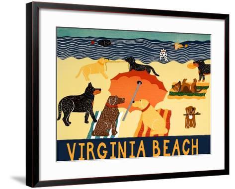 Ocean Ave Virginia Beach-Stephen Huneck-Framed Art Print