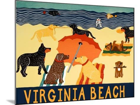 Ocean Ave Virginia Beach-Stephen Huneck-Mounted Giclee Print