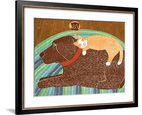 Think A Happy Thought Choc-Stephen Huneck-Framed Art Print