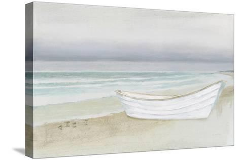 Serene Seaside with Boat-James Wiens-Stretched Canvas Print