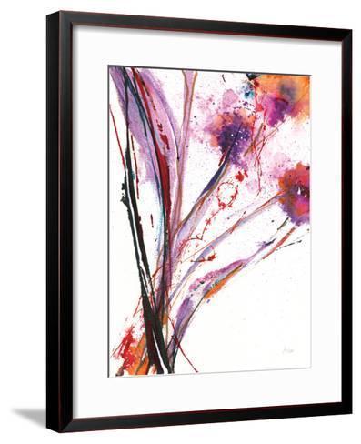 Floral Explosion III on White-Jan Griggs-Framed Art Print