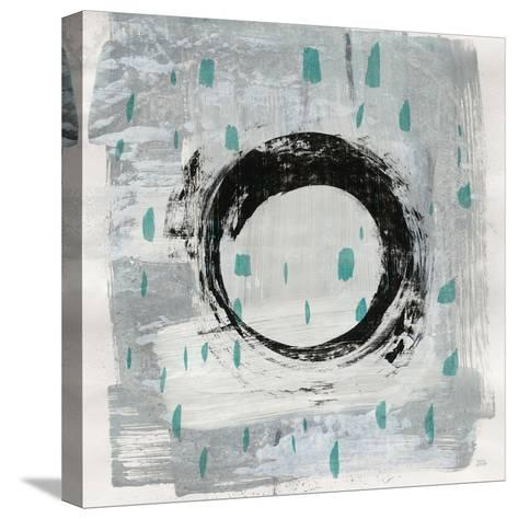Zen Circle I Crop with Teal-Melissa Averinos-Stretched Canvas Print