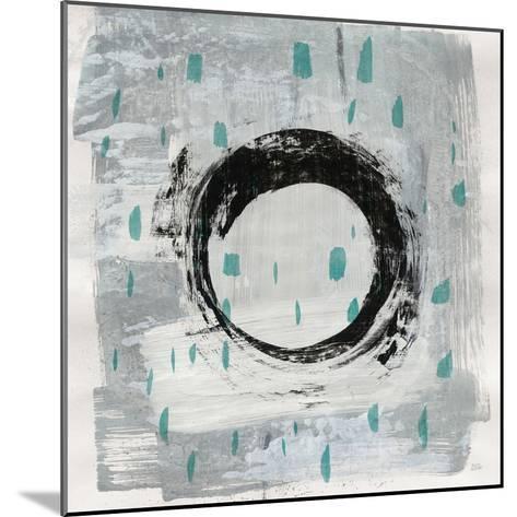 Zen Circle I Crop with Teal-Melissa Averinos-Mounted Art Print