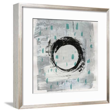 Zen Circle I Crop with Teal-Melissa Averinos-Framed Art Print