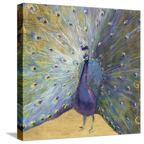 Purple and Gold Peacock-Danhui Nai-Stretched Canvas Print