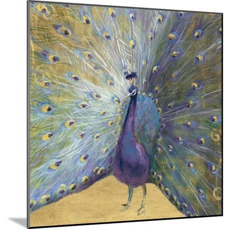 Purple and Gold Peacock-Danhui Nai-Mounted Art Print