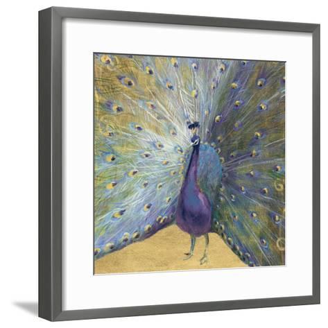 Purple and Gold Peacock-Danhui Nai-Framed Art Print