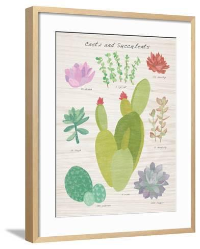 Succulent and Cacti Chart III on Wood-Wild Apple Portfolio-Framed Art Print