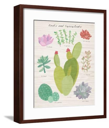 Succulent and Cacti Chart III on Wood-Wild Apple Portfolio-Framed Art Print