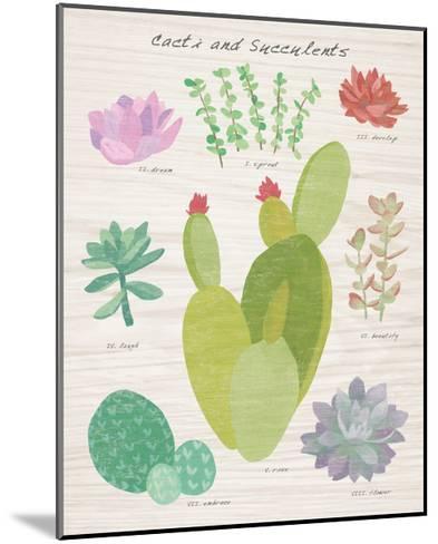 Succulent and Cacti Chart III on Wood-Wild Apple Portfolio-Mounted Art Print