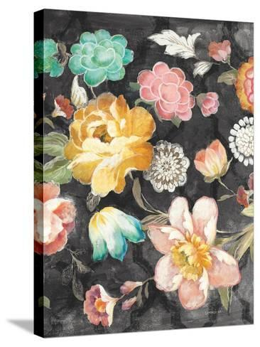 Garden of Delight Black III-Danhui Nai-Stretched Canvas Print