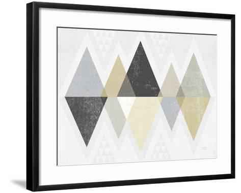 Mod Triangles II Archroma-Michael Mullan-Framed Art Print