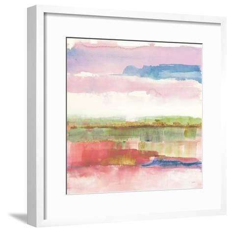 Influence of Line and Color Gold Bright-Mike Schick-Framed Art Print