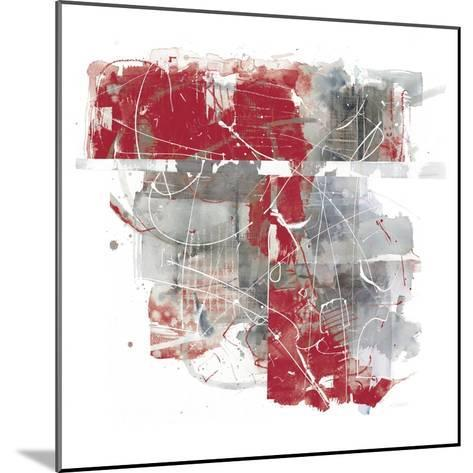 Moving In and Out of Traffic II Red Grey-Mike Schick-Mounted Art Print
