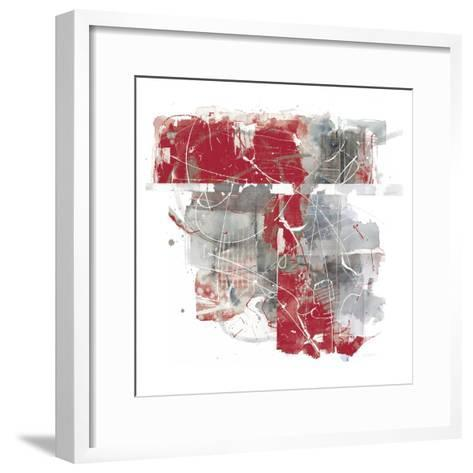 Moving In and Out of Traffic II Red Grey-Mike Schick-Framed Art Print