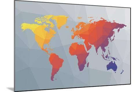 Geo Map I-Moira Hershey-Mounted Art Print
