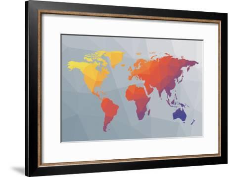 Geo Map I-Moira Hershey-Framed Art Print