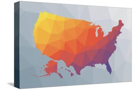 Geo Map II-Moira Hershey-Stretched Canvas Print