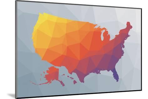 Geo Map II-Moira Hershey-Mounted Art Print