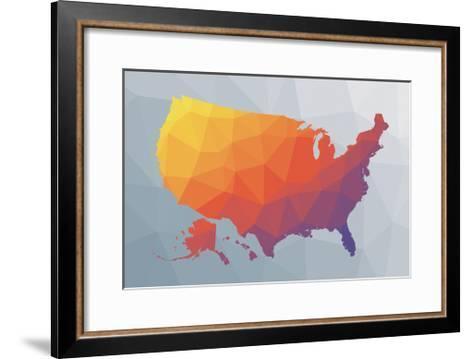 Geo Map II-Moira Hershey-Framed Art Print