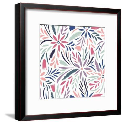 Seamless Floral Pattern. Vector Floral Background- tets-Framed Art Print