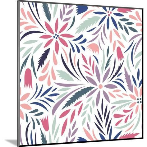 Seamless Floral Pattern. Vector Floral Background- tets-Mounted Art Print