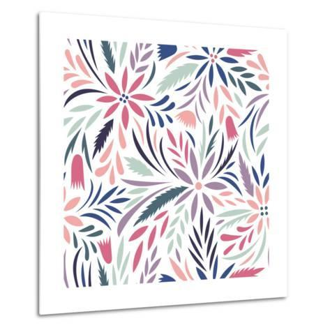 Seamless Floral Pattern. Vector Floral Background- tets-Metal Print