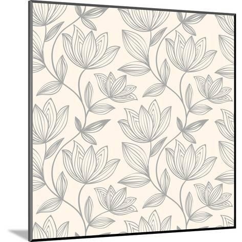 Floral Seamless Pattern Can Be Used for Wallpaper, Website Background, Textile Printing. Hand Drawn- Mespilia-Mounted Art Print