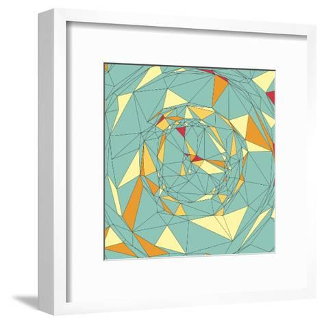 Colorful Pixels Mosaic. Abstract Background. Polygonal Vector Illustration.-Login-Framed Art Print