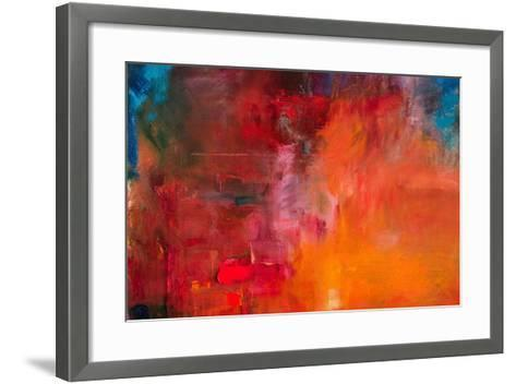 Abstract Oil Painting Background. Oil on Canvas Texture. Hand Drawn Oil Painting.Color Texture. Fra-Anton Evmeshkin-Framed Art Print