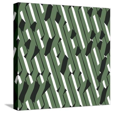 Evolving Geometry - Vector Seamless Pattern-Vytenis Slajus-Stretched Canvas Print