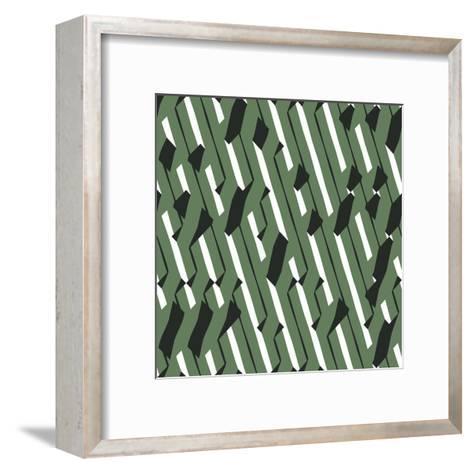 Evolving Geometry - Vector Seamless Pattern-Vytenis Slajus-Framed Art Print