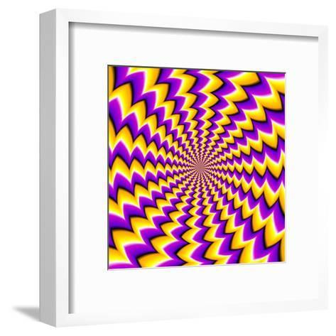 Abstract Yellow Background (Spin Illusion)-Andrey Korshenkov-Framed Art Print