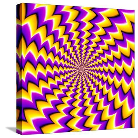 Abstract Yellow Background (Spin Illusion)-Andrey Korshenkov-Stretched Canvas Print
