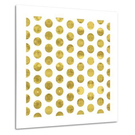 White and Gold Pattern. Abstract Geometric Modern Polka Dot Background. Vector Illustration.Shiny B-Lami Ka-Metal Print