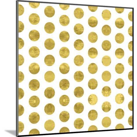 White and Gold Pattern. Abstract Geometric Modern Polka Dot Background. Vector Illustration.Shiny B-Lami Ka-Mounted Art Print