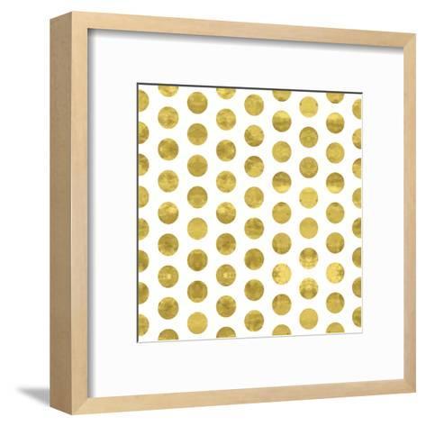 White and Gold Pattern. Abstract Geometric Modern Polka Dot Background. Vector Illustration.Shiny B-Lami Ka-Framed Art Print