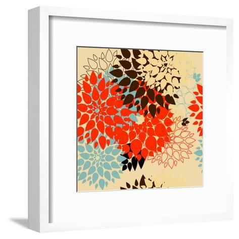 Floral Background. Summer Colour. Seamless Floral Pattern with Stylized Flower- bubusik-Framed Art Print