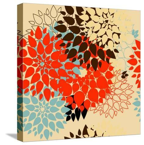 Floral Background. Summer Colour. Seamless Floral Pattern with Stylized Flower- bubusik-Stretched Canvas Print