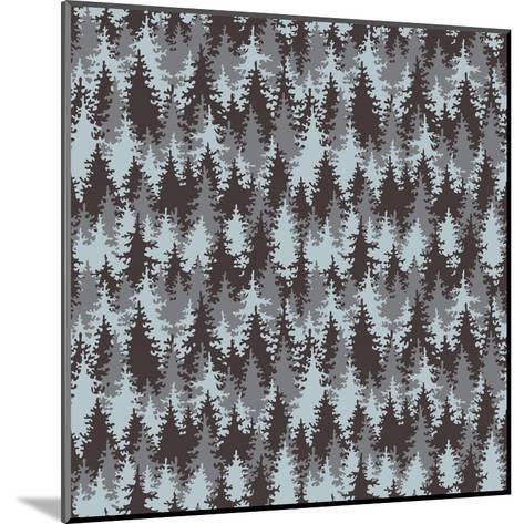 Illustration Coniferous Forest. Seamless Pattern.-Baksiabat-Mounted Art Print
