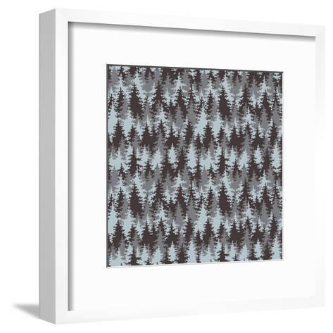 Illustration Coniferous Forest. Seamless Pattern.-Baksiabat-Framed Art Print