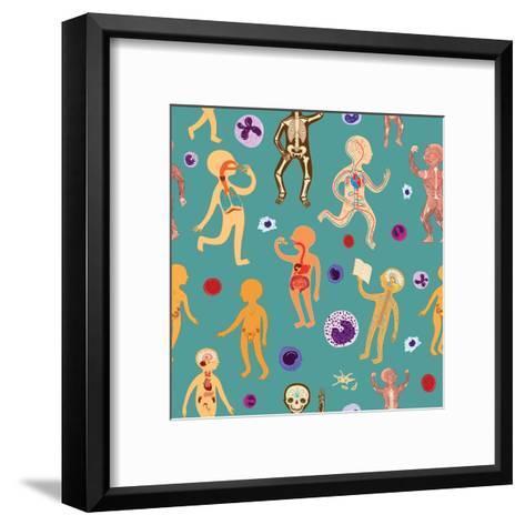 Educational Illustration of Human Anatomy, Systems of Organs for Kids, School, Education. Vector Ca- arborelza-Framed Art Print