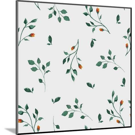 Vector Pattern with Flowers and Plants. Floral Decor. Original Floral Seamless Background. Bright C-Olga Alekseenko-Mounted Art Print
