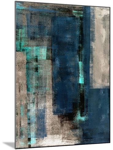 Blue and Beige Abstract Art Painting-T30 Gallery-Mounted Art Print